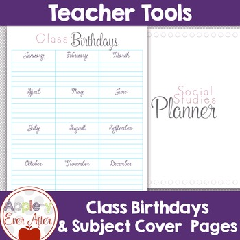 Back to School Teacher School Planner - FOR THE MONTH, DAY & YEAR
