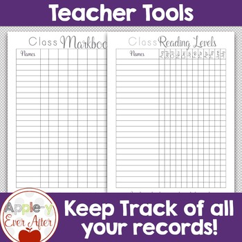 Teacher School Planner - FOR THE MONTH, DAY & YEAR - Black lines Copy