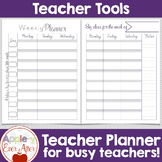 Teacher School Planner - FOR THE MONTH, DAY & YEAR - Black