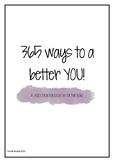 Teacher Self Care! 365 Tasks for Positivity!
