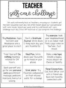 Teacher Self-Care Challenge