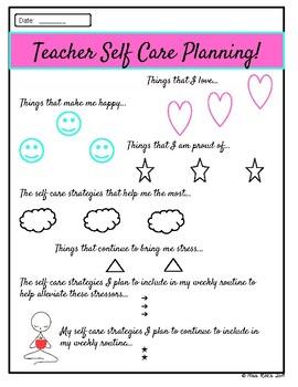 Teacher Self Care Guide FREEBIE
