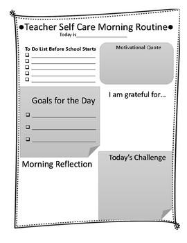Teacher Self Care Morning Routine