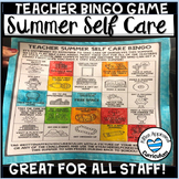 Summer Bingo Game Self Care For Teachers