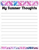 Teacher Self Care Summer Notepage