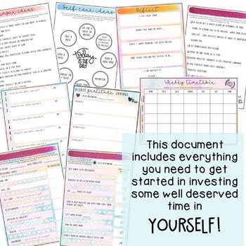 Teacher Self-care Journal