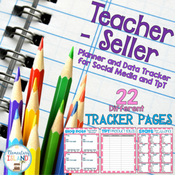 Editable Teacher-Seller Business Planner and Data Tracker