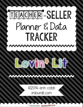Teacher-Seller Planner & Data Tracker ~ Calendar, Social Media, Advice, & More
