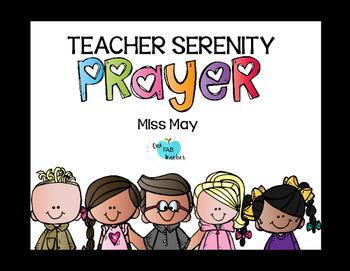 Teacher Serenity Prayer by One Fab Teacher | Teachers Pay Teachers