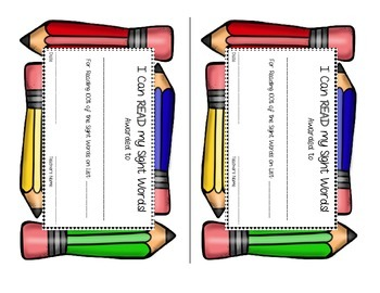 Teacher Sight Word Awards Certificates