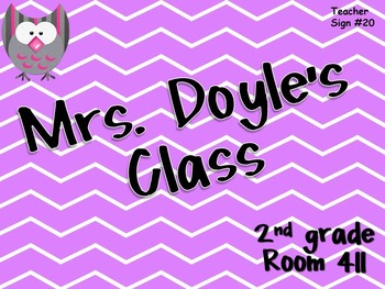 Teacher Sign #20 EDITABLE