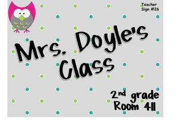 Teacher Sign #26 EDITABLE
