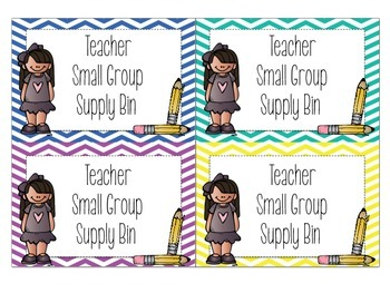 Teacher Small Group Supply Bin Labels