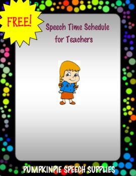 Teacher Speech Times