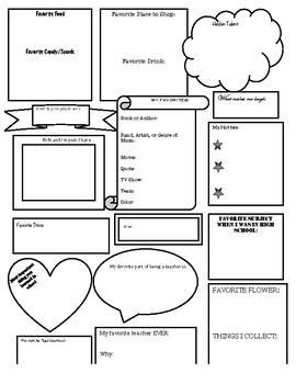 Teacher/Staff All About Me Survey