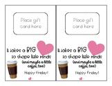 Teacher & Staff Appreciation Coffee Gift Card Holder & Tag