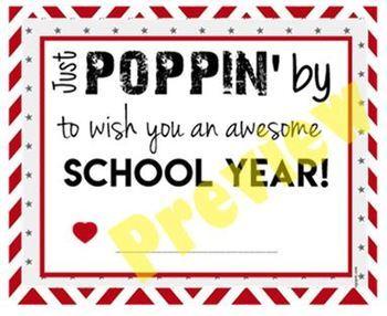 Teacher Staff Welcome Gift - Back to School - Popcorn