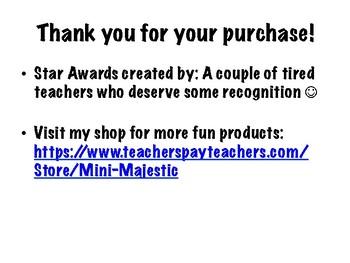 Teacher Star Awards