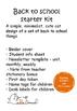 Teacher Starter Kit