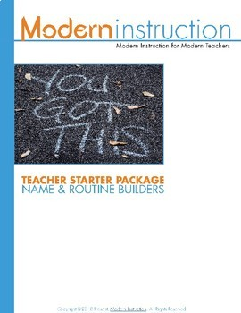 Teacher Starter Package 1: Name and Routine Builders