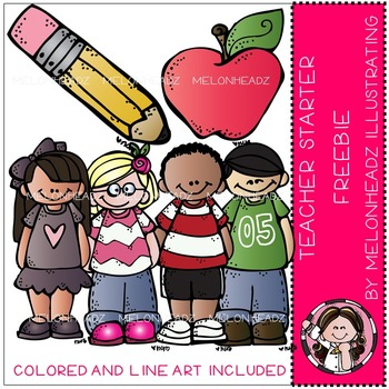 Melonheadz: Teacher Starter Pack clip art - Freebie - COMBO PACK