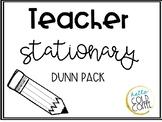 Teacher Stationary DUNN PACK