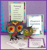 Teacher Stationery  –  Coordinates with Book Smart Owls Classroom Theme