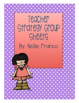 Teacher Strategy Group Sheets