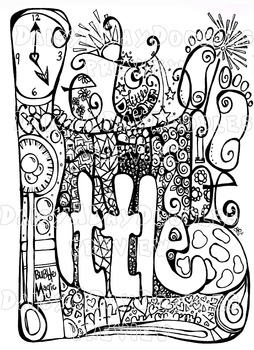 Growing Bundle - Stress Relief Adult/Child Zen Coloring pages