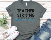 Teacher Strong SVG, Distance Learning, Cricut, Silhouette,