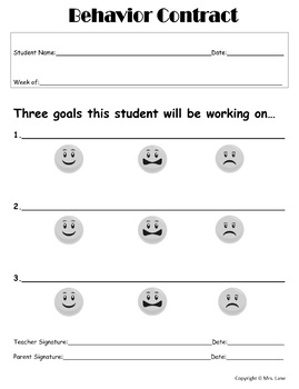 Ready-To-Use Student Behavior Contracts