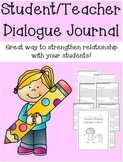 Teacher/Student Dialogue Journal