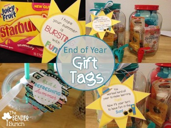 Teacher & Student End of Year Summer Gift Labels {Freebie}