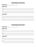 Teacher Student Goal Sheet for Parent Teacher Conferences