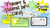 Teacher & Student Info Cards