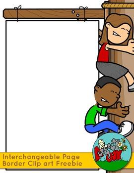 Teacher / Student / Person Page Sign Borders - Interchangeable Clip art