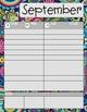 Teacher/Student Planner Pages **Multi-Color Paisley**