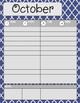 Teacher/Student Planner Pages **Navy Moroccan**