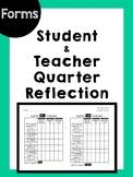 Teacher & Student Quarter Reflection