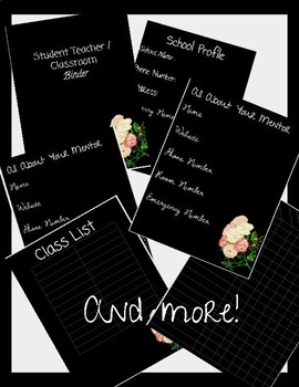 Teacher / Student Teacher Binder Layout - Editable