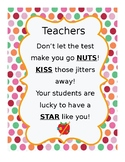 Teacher/Student Testing Treat Tag