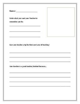 Teacher/Student Tip Book