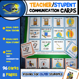 Teacher/Student Visual Communication Cards-8 Pages/96 Cards!
