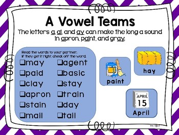 Teacher-Student Vowel Teams