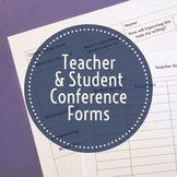 Teacher & Student Writing Conference Forms