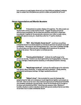 Teacher, Student, and Parent Appreciation Activities Ideas