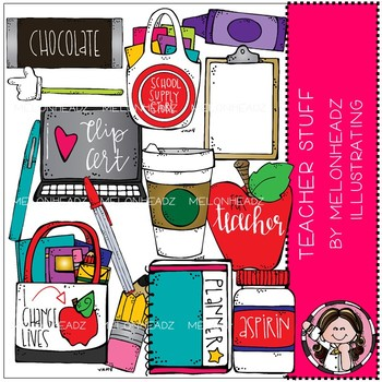 Teacher Stuff clip art - COMBO PACK - Melonheadz Clipart