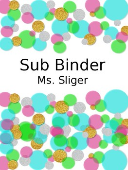 Teacher/  Sub Binder