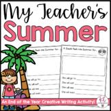 All About My Teacher's Summer Book
