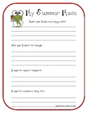 Teacher Summer Brainstorming Page~ My Summer Muse Freebie!